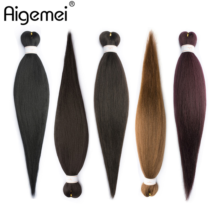 Hair Braids Professional Sale Aigemei Jumbo Braids Crochet Hair Kanekalon Fiber Synthetic Braiding Hair For Women 1b 2# 4# 30# 99j 22 Inch 85/pack At Any Cost
