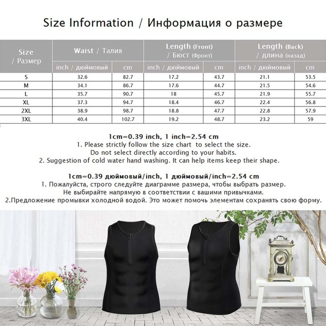 Palicy Men's Sauna Suit Neoprene Slimming Waist Trainer Body Shaper Sweat Vest for Weight Loss Corset Shapewear Tank Top Zipper