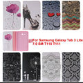 Мода Флип PU Кожаный Чехол Чехол для Samsung Galaxy Tab 3 lite 7.0 T110 T111 T113 T116 случаях Планшет с слот для карт