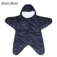 Insular 0 8M Star Baby Sleeping Bags Winter Baby Sleep Sack Warm Baby Blanket Swaddle For Stroller