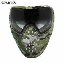 Большой лотоса камуфляж тактический военный Пейнтбол маска Airsoft маска краситель I4 двухслойные объектива