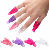 10PCS Plastic Nail Art Soaker Off Caps Clip UV Gel Polish Remover Wrap Tool Nail Art Tips Tools for Fingers Nail Polish Remover