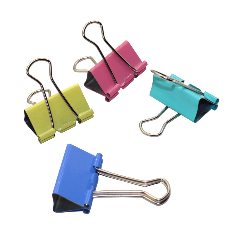 4 Pcs Color Long Tail Clips Photo Clip Holder Notes Letter Paper Clip Office Supplies 4.3*2.5cm Office Binding Products