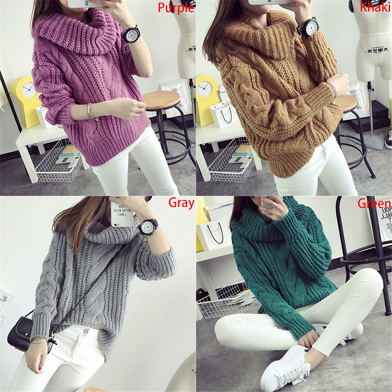 Knitted Sweaters Christmas Women Sweaters Warm Pullover and Jumpers Mohair Crewneck Pullover Twist Pull Jumpers Autumn