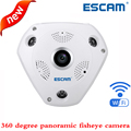 ESCAM shark QP180 HD 960P H2.64 1.3MP 360 degree panoramic fisheye infrared camera VR camera support VR box and two way talk