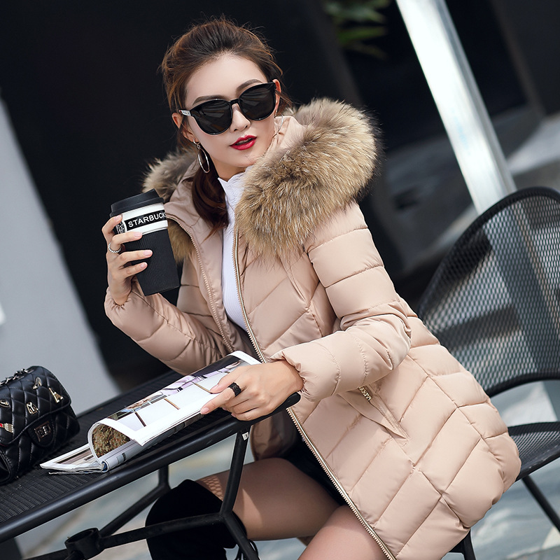 Hooded Fur Collar Winter Down Coat Jacket Long Thick Warm Women Casaco Feminino Abrigos Mujer Invierno Student Wadded Parkas 09