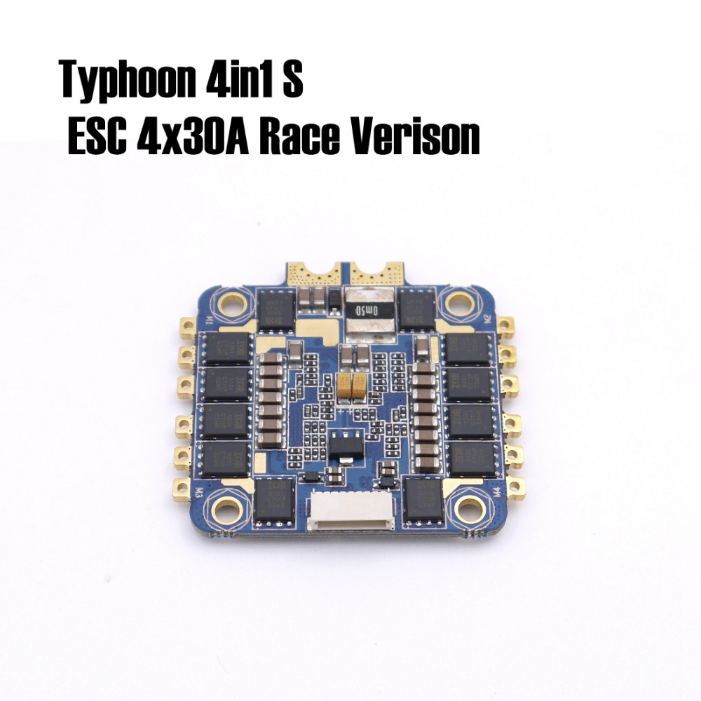 цена на The Typhoon 4in1 S ESC 4x30A Race Verison runs BLHELI_S fimrware supports our ESCLINKER and BLHELIsuit for quadcopter drone