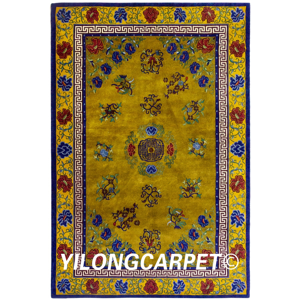 YILONG 6'x9' Handmade Wool Floral Carpets Nepal Manual