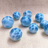 AAAA one PIECE loose beads Larimar 6 20MM round for DIY jewelry making FPPJ wholesale beads nature gem stone