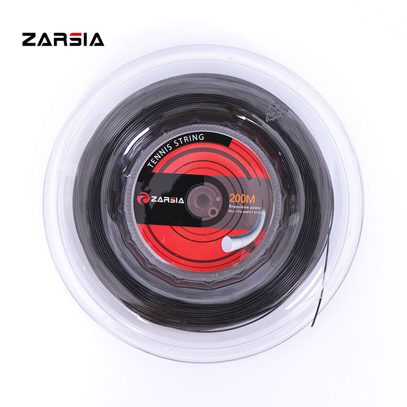 1 Reel ZARSIA Polyester Durable Strings Tennis Strings 1.25mm Round Tennis Racket String 200M Big Banger Training Strings