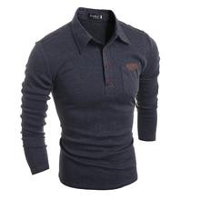 Mens Polo Shirt Brands 2018 Male Long Sleeve Fashion Casual Slim Pocket Skinning Button Polos Men Jerseys XXL