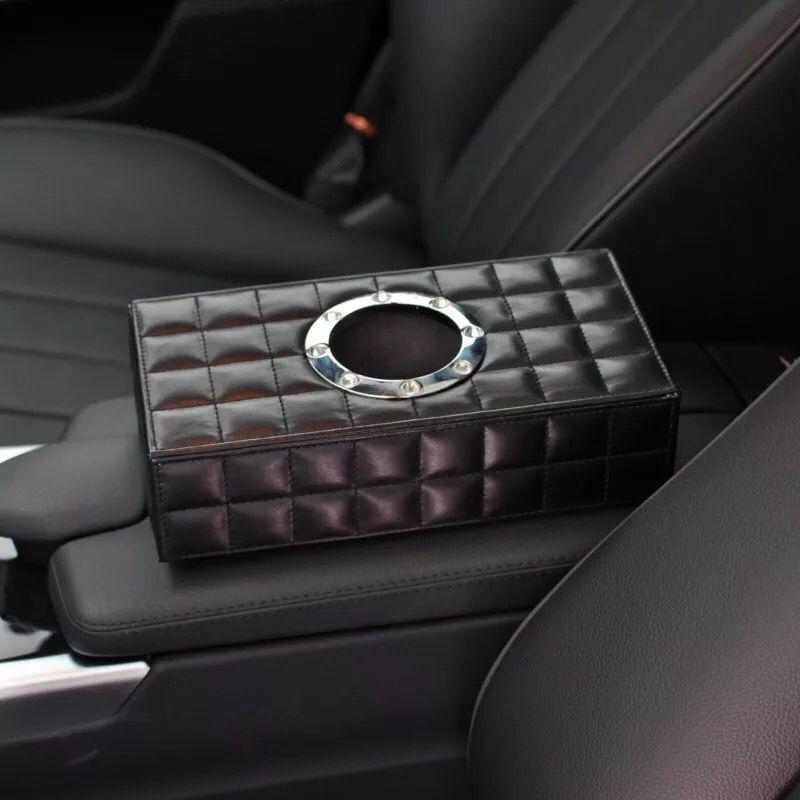 1pcs Modern Seat Type Car Tissue Box Leather Dad Luxury Tissue Box