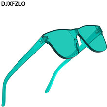 Fashion Women Rimless square Sunglasses Women/Men Luxury Bra