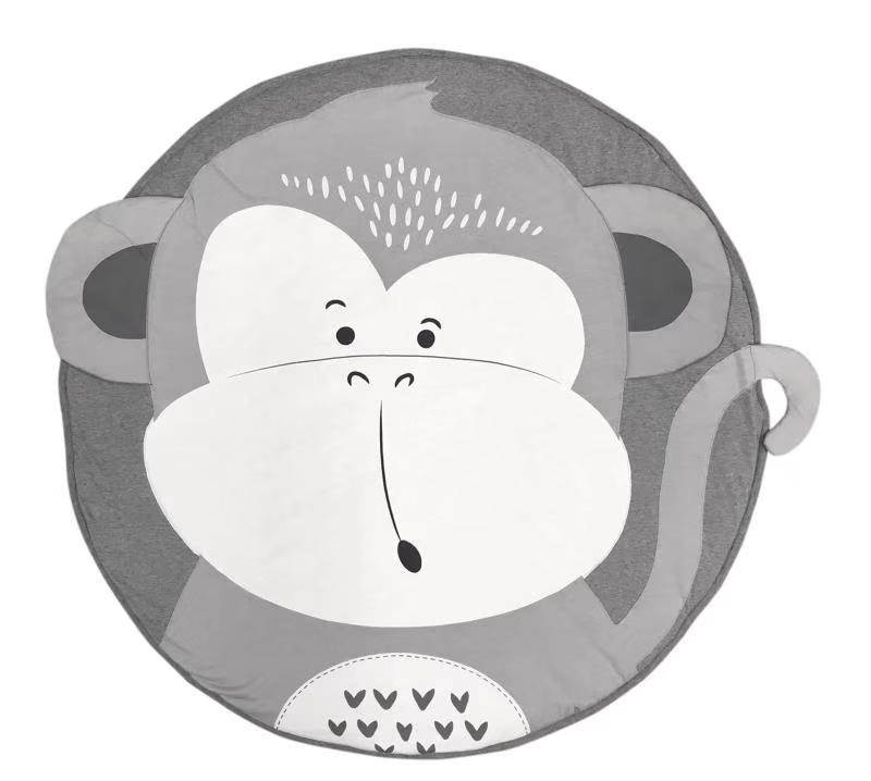95 см детская игра коврики круглый коврик, мат хлопок Лебедь Ползания одеяло пол ковер для детской комнаты украшения INS подарки для малышей - Цвет: monkey
