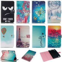 Lovely Mandala Butterfly Flower Tower Pattern Wallet Flip PU Leather Back Cover For Amazon Kindle Fire7