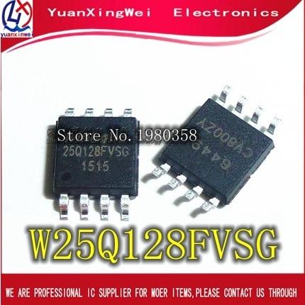 50 adet W25Q128FVSG SOP8 25Q128FVSG SOP 25Q128 W25Q128FVSSIG W25Q128 SMD yeni ve orijinal IC ücretsiz kargo