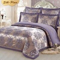SILK PLACE Comforter King Luxury Full Bedding Set Colorful Wedding Bed Sheet Linen Quilt Single Queen Duvet Covers Pillow Case