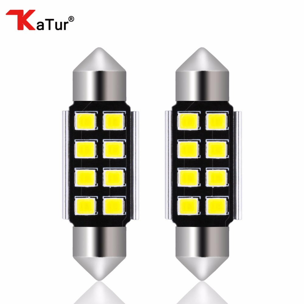 2pcs C5W Bulb 36mm 1.41'' LED Pure White CANbus Error Free 2835 SMD License Plate Light For BMW DE3175 DE3021 DE3022 Dome Lights 2x 24 smd led error free license plate light for bmw 1 series e82 e88 e39 e61n car light source