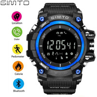 GIMTO Outdoor Sport Men Smart Watch Bluetooth Cool Shock Military Digital Electronics Male Watches Waterproof Pedometer