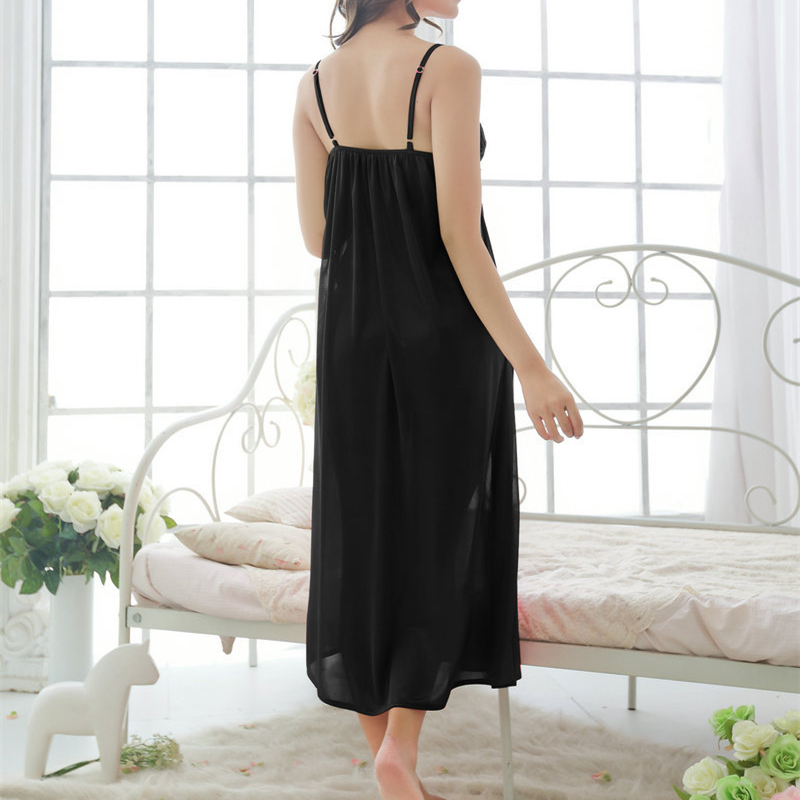 97be98d24 New Arrivals Solid Nightgowns Home Dress Comfortable Sleep Shirts Sexy  Nightwear Spaghetti Strap Lace Nightgown Female  H166-in Nightgowns    Sleepshirts ...