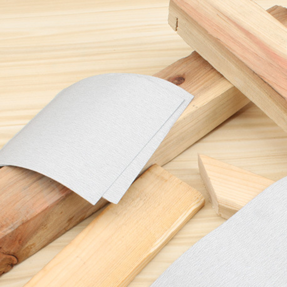 120-1000# Dry Matte Paper Rectangular Woodworking Hand-Polished Furniture Wenwan White Dry Sandpaper Abrasives Tools