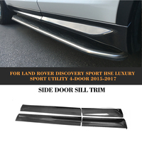 Carbon Fiber Door Side Sill Trim Nerf bar protection skirts for Land Rover Discovery Sport HSE Luxury Sport Utility 4 Door 15-17