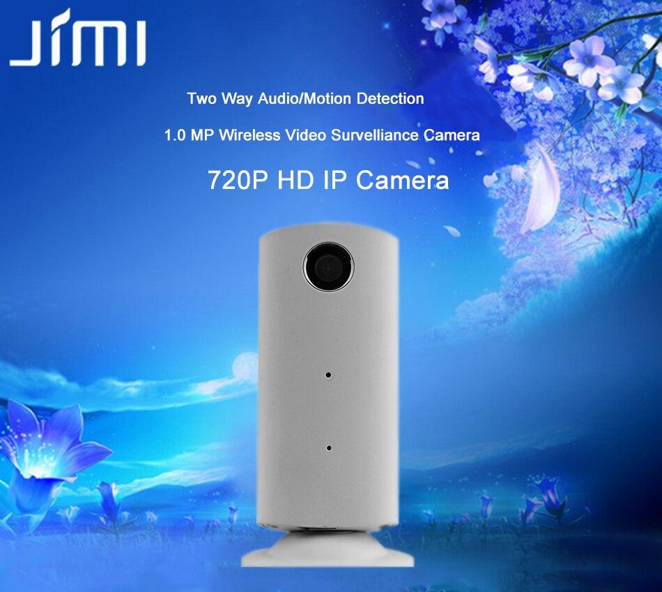 ФОТО Jimi JH08(white) Mini Smart Wireless 720P HD IP Camera P2P Megapixel Baby Monitor Audio Record WIFI Indoor Surveillance Camera