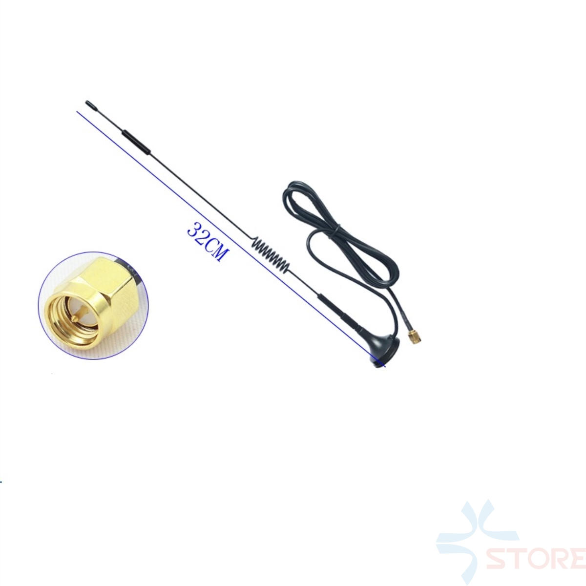 433Mhz 12dbi high gain sucker aerial Antenna 3M cable SMA For 433Mhz 3DR Radio Telemetry