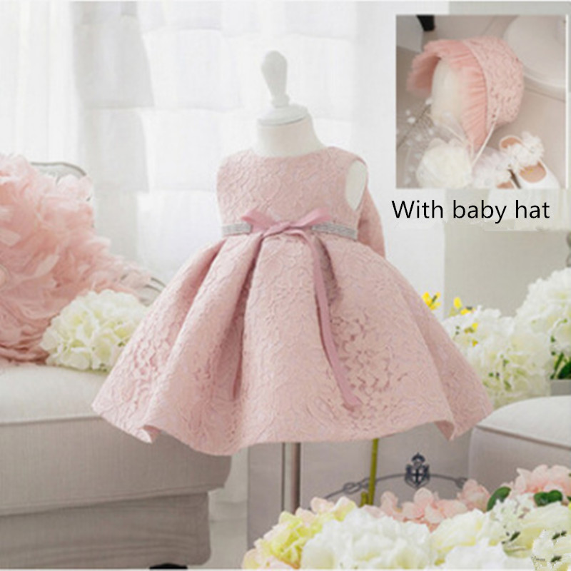 New born infant dresses for girls clothes with baby hat unicorn Party Princess summer dress costume Christmas Children Clothing 2017 new baby girls christmas man dot dress costume cotton children dresses christmas red color children s clothing 2 6 yrs