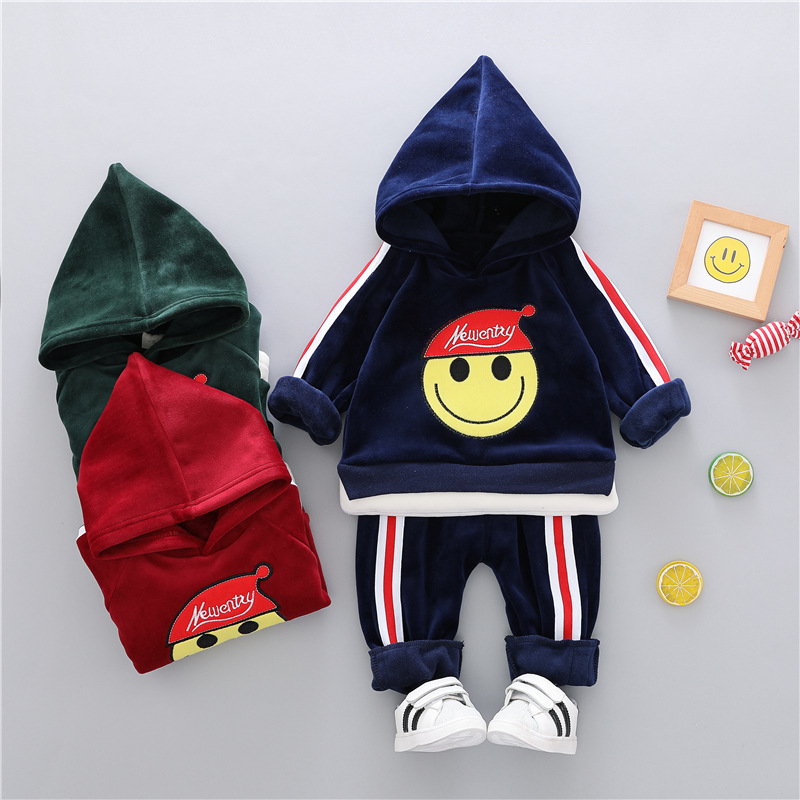 winter children Clothes suit boys clothing set baby girls cartoon Pullover warm Thick 2PCS Sportsuit kids velvet tracksuit 1year kids clothes autumn winter boys gold velvet clothing set school children warm thicken sport suit fashion kids tracksuit
