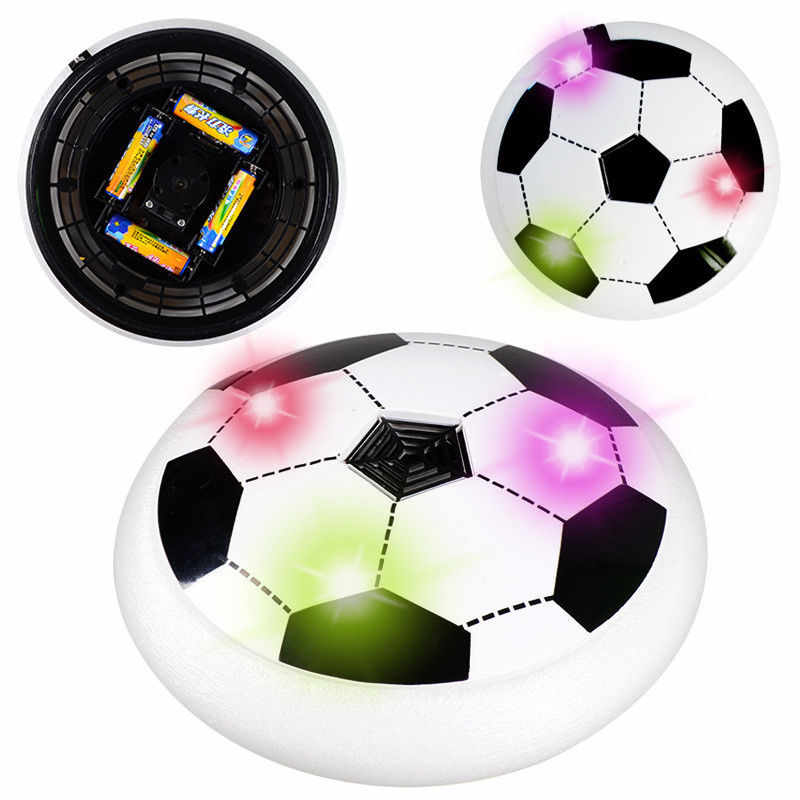 2018 Hot Sale Newest Brand Pudcoco Air Power Soccer Disc Hovering Gliding Ball Floating Led Flashing Football Toy Kids Gift