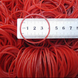 "Image 4 - איכות גבוהה 500 Pieces גומיות צבע אדום להקת גומי טבעי 40 מ""מ קוטר משרד בית הספר וגינה גומייה"