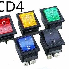 Фиксация кулисный переключатель питания I/O 4 контакта с светильник 16A 250VAC 20A 125VAC KCD4