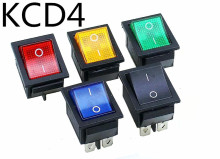 KCD4 16A 250VAC/20A 125VAC Red Button Light Rocker Switch 4 Pin Rocker Power Switch цена