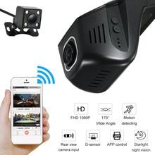 Car DVR Camera with Rearview Full HD 1080P 170 Degree Hiden Dash Camera Video Recorder Starlight Night Camera DVRs Register