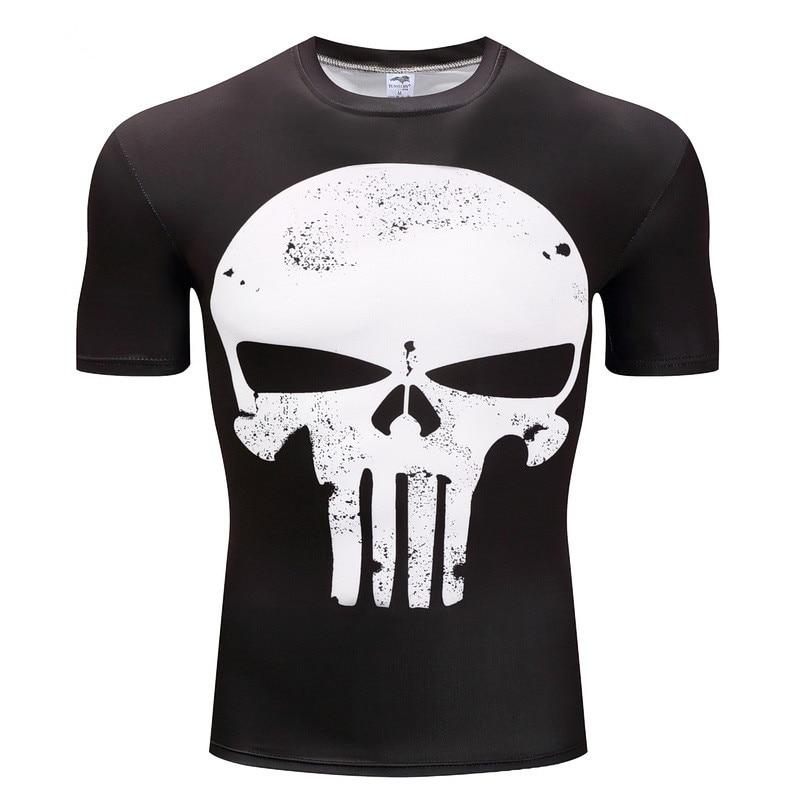 punisher t shirts for men t shirt polyester fashion brand t shirt men Casual Short Sleeves the punisher T-shirt Men