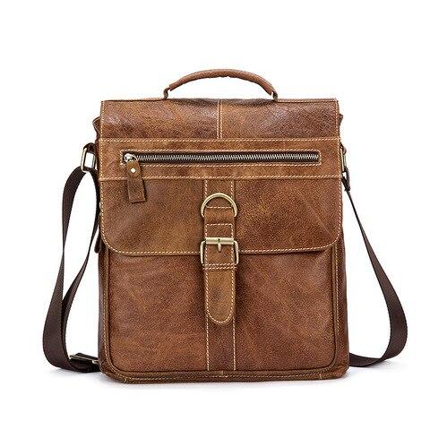 Designer Brand Messenger Bags Vintage Genuine Leather Bags For Men Business Office Handbags Casual Cow Leather Shoulder Bags Karachi