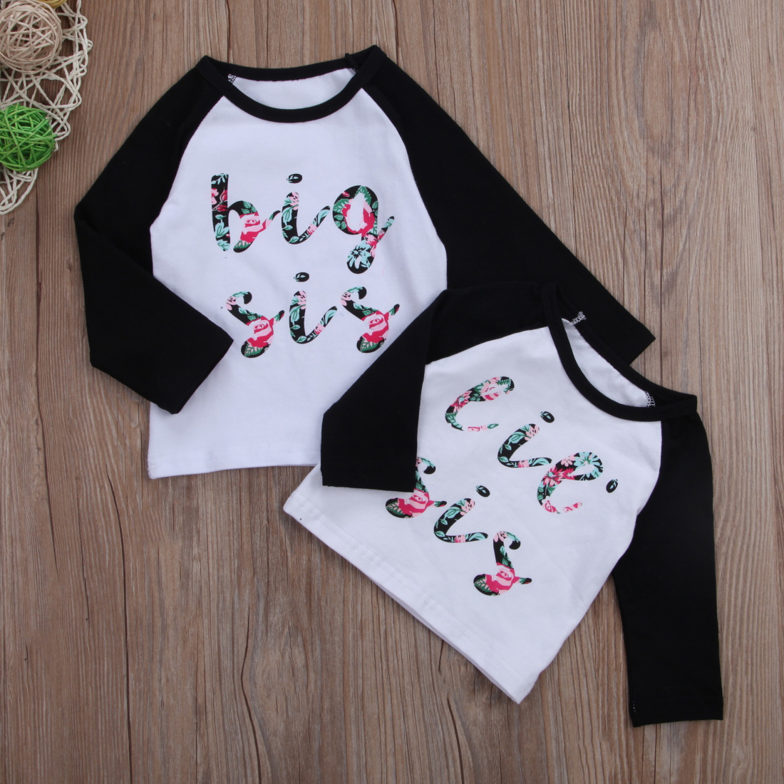 Big Sister Shirt for Toddler t Shirt sis Outfits Girls Floral Tshirt