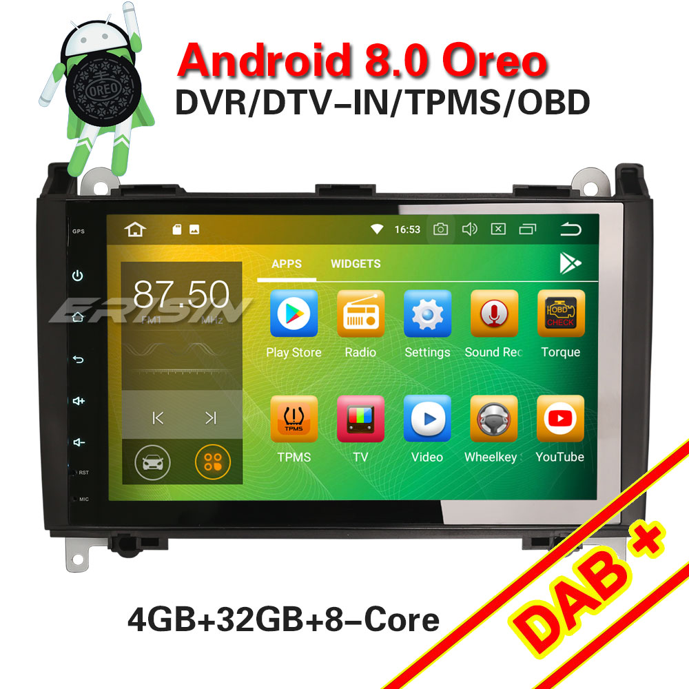 US $308 0 |Erisin ES7801B 9 inch car dvd player android 8 0 4G RAM DAB OBD  WIFI 3G for Sprinter Viano Vito-in Car Multimedia Player from Automobiles &
