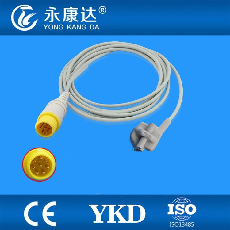 Compatible MEK-(CSI model)  pediatric soft tip SpO2 Sensor 3m,8pins,TPUCompatible MEK-(CSI model)  pediatric soft tip SpO2 Sensor 3m,8pins,TPU