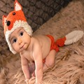 Handmade Knitted Baby Fox Design Hat Long Tail Pants Costumes Outfit Newborn Photography Props Crochet Animal Infant Photo Props