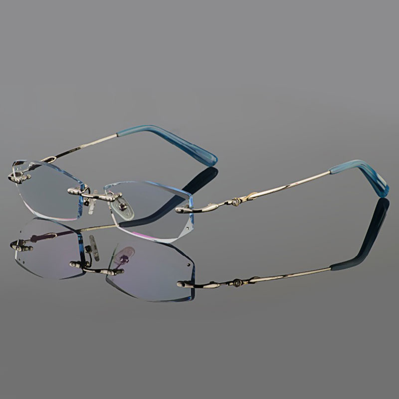 Rimless Glasses Maximum Prescription : ?Phantom trimming titanium ? eyewear eyewear female models ...