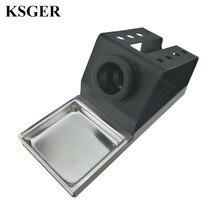 KSGER 납땜 인두 스테이션 스탠드 DIY T12 홀더 용접 철 팁 STC STM32 금속 핸들 알루미늄 합금 도구 수리 전화