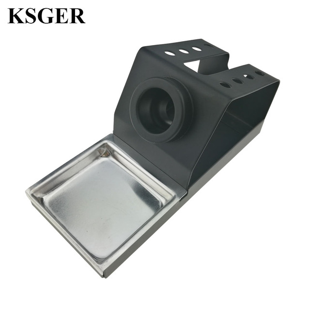 KSGER Soldering Iron Station Stand DIY T12 Holder Welding Iron Tips STC STM32 Metal Handle Aluminum Alloy Tools Repair Phone