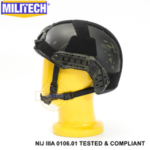 Image 3 - ISO מוסמך 2019 חדש MILITECH מרובה שחור IIIA 3A מהיר גבוהה XP לחתוך Bulletproof ארמיד בליסטי קסדה עם 5 Yrs אחריות