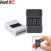1pcs HotRc BX100 1-8S Lipo Battery Voltage Tester/ Low Voltage Buzzer Alarm/ Battery Voltage Checker with Dual Speakers