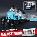 Lepin 21006 1234 unids Genuino Technic Serie Ultimate El Maersk Tren De Juguete Bloques de Construcción de Ladrillos de Juguetes Educativos 10219