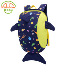 Rainbow Baby Smart Dolphin School Bags Kids & Babys Mini Colorful Animal Backpack Urltra-Light Waterproof Non-Polluting 2017 New