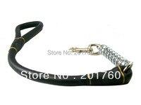 70*1.6 cm đen kim loại da mùa xuân Pet Dog Leash dây xích miễn phí vận vận chuyển