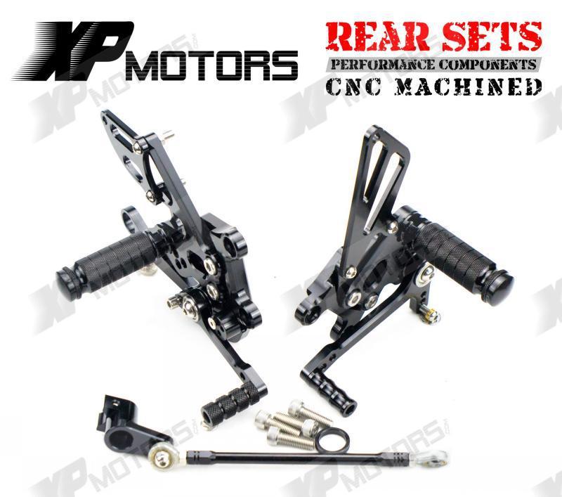 CNC Racing Adjustable Rearset Rear Sets Foot Pegs For Aprilia RSV4 Factory APRC 2011-2014 Black